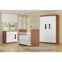 Quarto de Bebê Completo Bolinha de Sabão R4 - Avelã/Branco - Multimóveis