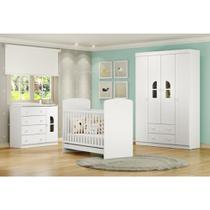Quarto de Bebê Completo Bolinha de Sabão R4 - Branco - Multimóveis