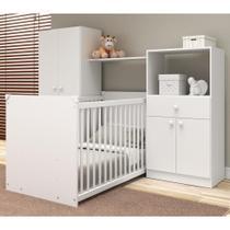 Quarto de Bebê Completo com Berço Guarda-roupa e Cômoda Multimóveis 2869.010 -