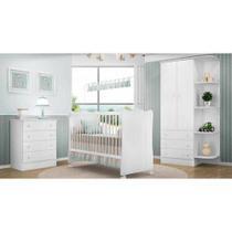 Quarto De Bebê Completo Doce Sonho Branco Lojix - Qmovi -