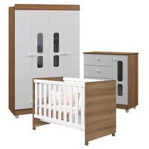 Quarto de Bebê Katatau Flex 4 Portas Branco Mezzo Brilho - Reller -
