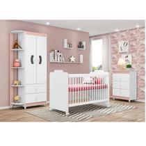 Quarto de Bebê Ternura Peternella Cor Branco Rosa -