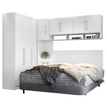 Quarto de Casal Modena Ambiente 3 Branco Brilho  Demóbile - Demobile