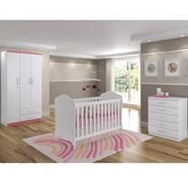Quarto Infantil Completo Com Colchão e Berço Arco Íris - Henn -
