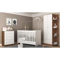 Quarto Infantil Completo Doce Sonho c/ berço 4 em 1 c/ colchão incluso Multimóveis -