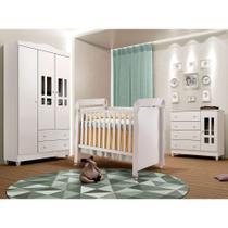 Quarto Infantil Decorado Ariel II Branco - Carolina Baby