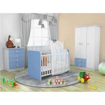 Quarto Infantil Inocência II Azul e Branco - Batrol