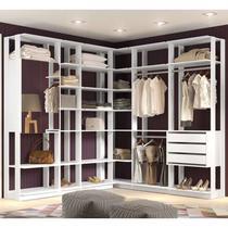 Quarto Modulado Closet Clothes 6 Módulos Branco - BE Mobiliário -