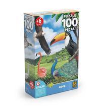 Quebra Cabeça - 100 peças - Aves - Grow -