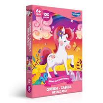 QUEBRA-CABECA 100 Peças Metalizado Reino dos Unicornios JAK 2573 -