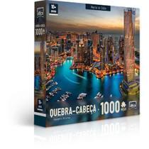 Quebra Cabeça 1000 Pcs Paisagens Noturnas Marina De Dubai - Toyster