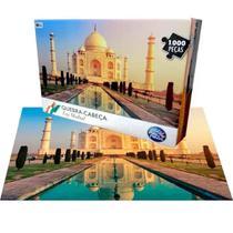 Quebra Cabeça 1000 Pçs Taj Mahal Maravilhas Do Mundo - Pais E Filhos