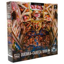Quebra-Cabeça 1000 Peças Capela Sistina - Toyster -