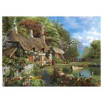 Quebra-cabeça 1000 Peças Casa no Lago 2963 - Grow -