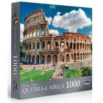 Quebra Cabeça 1000 peças - Coliseu - Roma - Itália - TOYSTER -