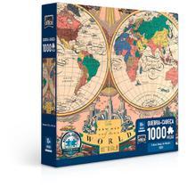 Quebra-Cabeça - 1000 Peças - O Novo Mapa do Mundo - Toyster -