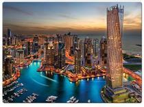 Quebra Cabeça 1000 Peças Paisagens Noturnas Marina de Dubai Toyster - Game Office