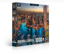 Quebra Cabeça 1000 Peças Paisagens Noturnas Marina De Dubai Toyster -