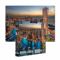 Quebra-cabeça 1000 Peças Paisagens Noturnas Marina De Dubai - Toyster