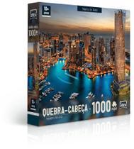 Quebra-Cabeça 1000 Peças - Paisagens Noturnas - Marina de Dubai - Toyster