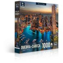 Quebra Cabeça 1000 Peças Paisagens Noturnas Marina De Dubai - Toyster