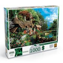Quebra Cabeça 1000 Peças Puzzle Casa no Lago Grow -