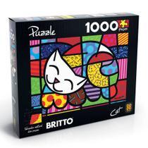 Quebra cabeça 1000 peças Romero Britto - Cat - Grow