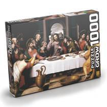 Quebra-cabeça - 1000 Peças - Santa Ceia 01393 - GROW -