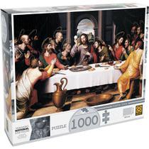 Quebra-cabeça - 1000 Peças - Santa Ceia 1393 - Grow -