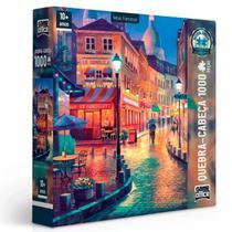 Quebra Cabeça 1000 peças Vielas Francesas Noturna Toyster -