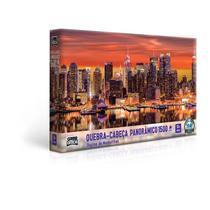 Quebra-Cabeça 1500 peças Panorâmico Skyline de Manhathan - Toyster -