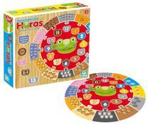 Quebra-cabeça 2 em 1 Relógio Aprendendo as Horas em Madeira - Nig Brinquedos -