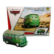 Quebra-Cabeça 3D Carros Disney - Fillmore - Dtc