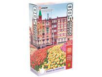 Quebra-cabeça 500 Peças Paisagem - Puzzles Adultos Flores de Amsterdã