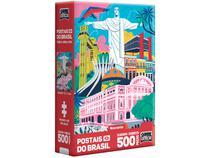 Quebra-cabeça 500 Peças Postais do Brasil - Game Office Monumentos Toyster