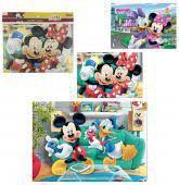 Quebra Cabeça 63 Peças Mickey 26X37,5cm - 134750 - Etilux