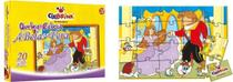 Quebra-Cabeça A Bela e a Fera em Madeira em Caixa Cartonada - Ciabrink
