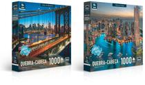 Quebra Cabeca Cartonado Paisagens Noturnas Marina Dubai 1000 Pecas Toyster -