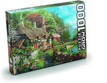 Quebra Cabeça Casa no Lago 1000 Peças - Grow 2983 -