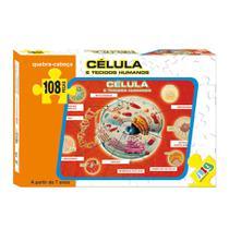 Quebra-Cabeça - Célula e Tecidos Humanos - 108 peças - NIG - Nig brinquedos