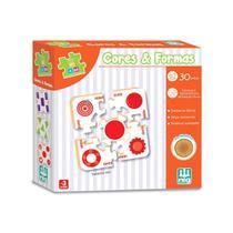 Quebra Cabeça Cores e Formas - 30 peças - Nig Brinquedos -