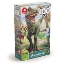Quebra-Cabeça - Dinossauros - 100 Peças - Grow -