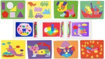 Quebra-cabeça Divertidos - MINGONE 11 cartelas - Mingone Brinquedos