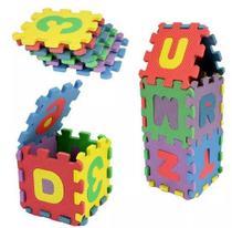 Quebra Cabeça Em EVA Letras E Números Alfabeto Brinquedo Educativo 36 Peças 814552 - Daterra
