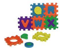 Quebra Cabeça Em EVA Letras E Números Alfabeto Brinquedo Educativo 36 Peças BA17697 - 20C -