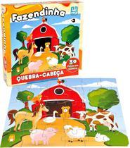 Quebra Cabeça Em Madeira - 30 Peças - Fazendinha - Nig - Nig Brinquedos