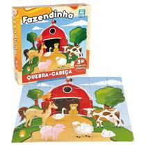 Quebra-Cabeça em Madeira Fazendinha - 30 Peças - Nig - Nig brinquedos