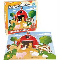 Quebra-Cabeça em Madeira - Fazendinha - 30 peças - Nig - Nig brinquedos