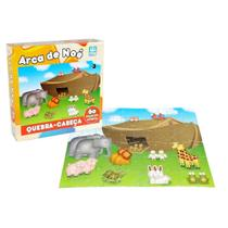 Quebra Cabeça Infantil De Madeira Arca De Noé 60 Peças - Nig - Nig Brinquedos
