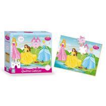 Quebra Cabeça Infantil De Madeira Princesas 30 Peças - Nig - Nig Brinquedos